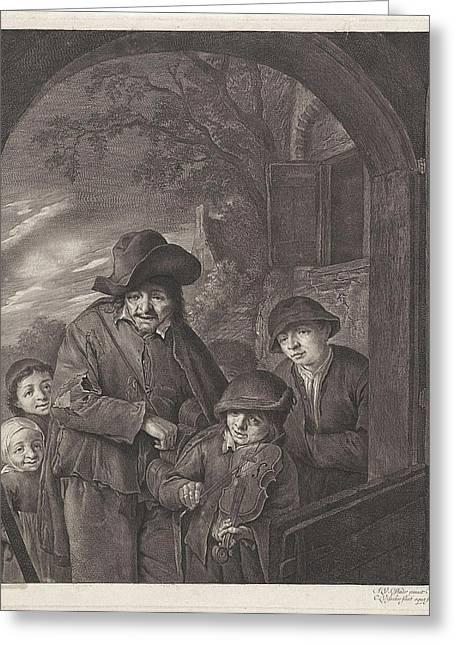 Liereman, Cornelis Visscher II Greeting Card by Cornelis Visscher (ii)