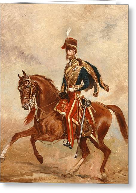 Lieutenant Colonel James Thomas Brudenell  Greeting Card by Alfred de Prades
