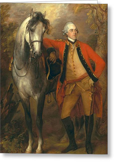 Lieutenant General Edward Ligonier Greeting Card by Thomas Gainsborough