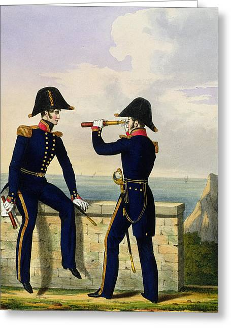 Lieutenants, Plate 1 From Costume Greeting Card