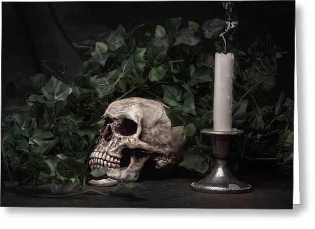 Life And Death Greeting Card by Tom Mc Nemar