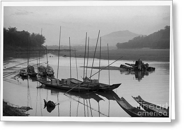 life at Mae Khong river Greeting Card by Setsiri Silapasuwanchai
