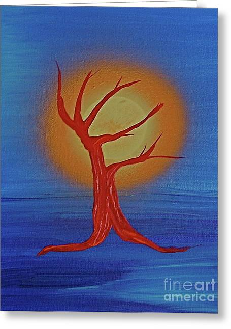 Greeting Card featuring the painting Life Blood By Jrr by First Star Art