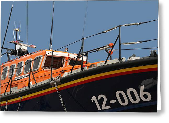 Greeting Card featuring the photograph Life Boat by Christopher Rowlands