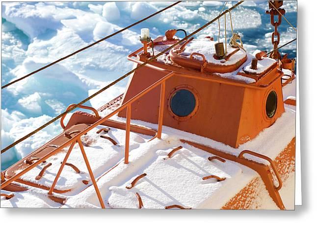 Life Boat Of The Icebreaker Kapitan Greeting Card by Daisy Gilardini
