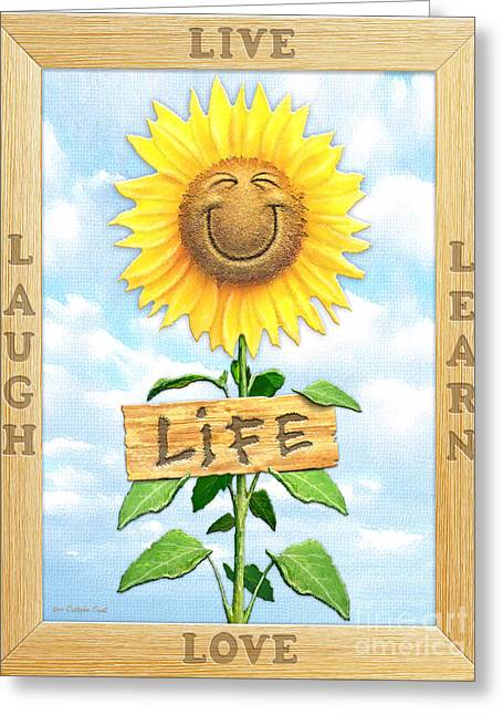 Life Greeting Card by Cristophers Dream Artistry