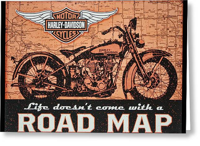 Greeting Card featuring the digital art Life Doesn't Come With A Roadmap by Photographic Art by Russel Ray Photos
