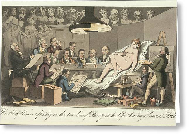 Life Drawing Greeting Card by British Library