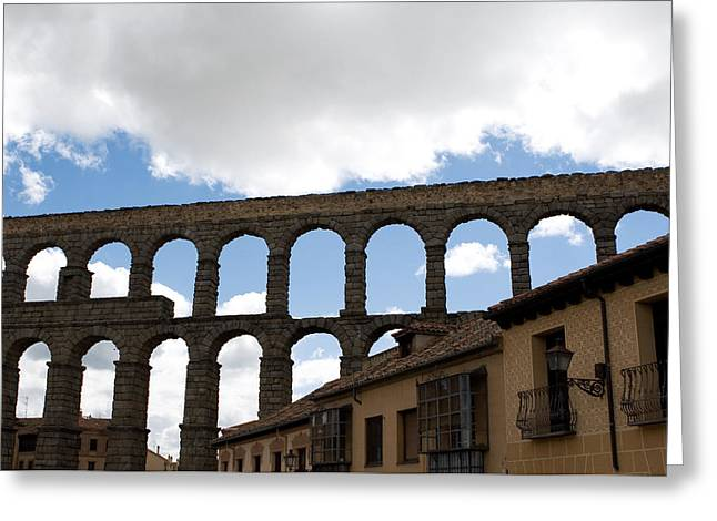 Life Framed By Aqueduct Greeting Card