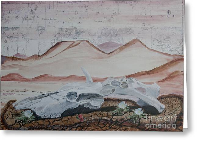 Life From Death In The Desert Greeting Card by Ian Donley