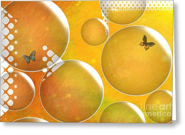 Life In A Bubble   Greeting Card by Liane Wright