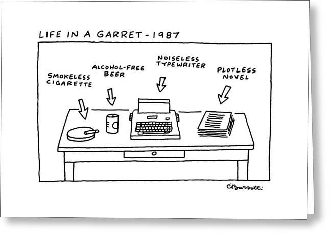 Life In Garret-1987 Greeting Card