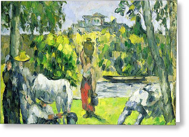 Life In The Fields Greeting Card by Paul Cezanne