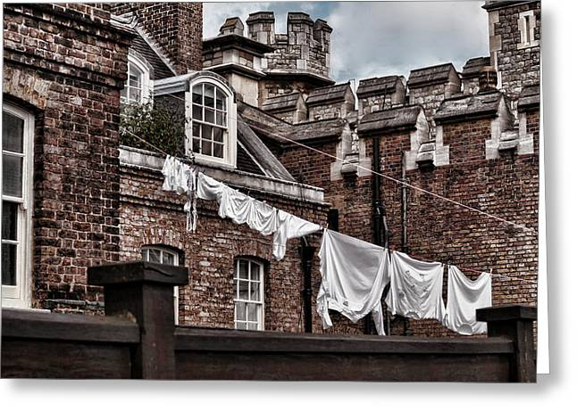 Life In The Tower Of London 2 Greeting Card by Joanna Madloch
