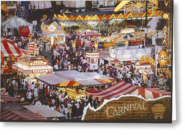 Life Is A Carnival Greeting Card by Bill Jonas