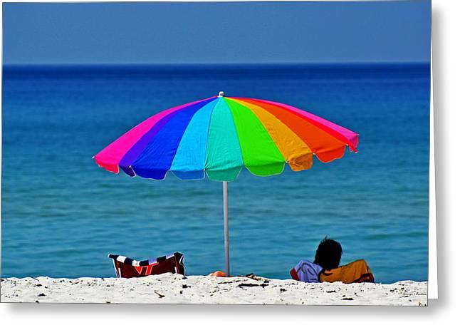 Life Is A Sunny Beach 001 Greeting Card
