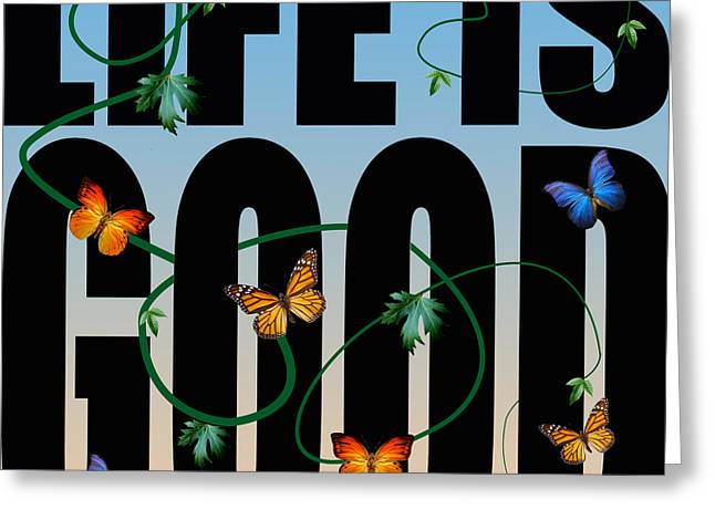 Life Is Good  Greeting Card by Mark Ashkenazi