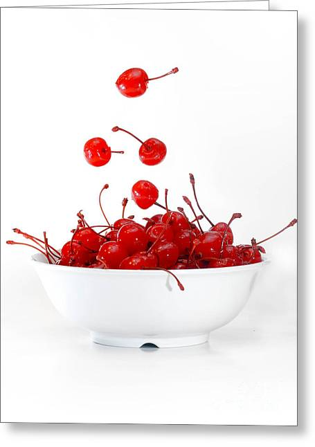 Life Is Just A Bowl Of Cherries 3 Greeting Card by Amy Cicconi