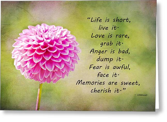 Life Is Short Greeting Card by Trish Tritz