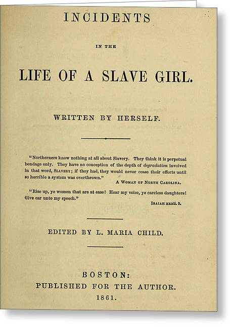 Life Of A Slave Girl, 1861 Greeting Card