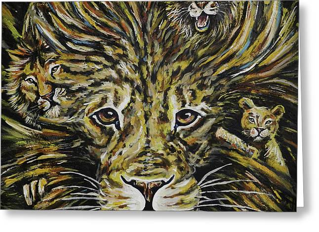 Life Of Leo Greeting Card by Lovejoy Creations