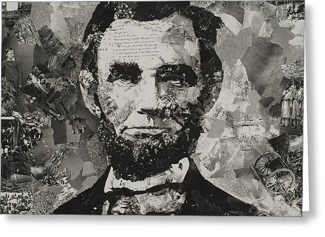 Life Of Lincoln Greeting Card by Claire Muller