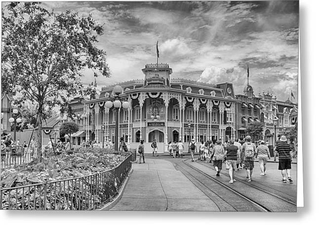 Greeting Card featuring the photograph Life On Main Street by Howard Salmon