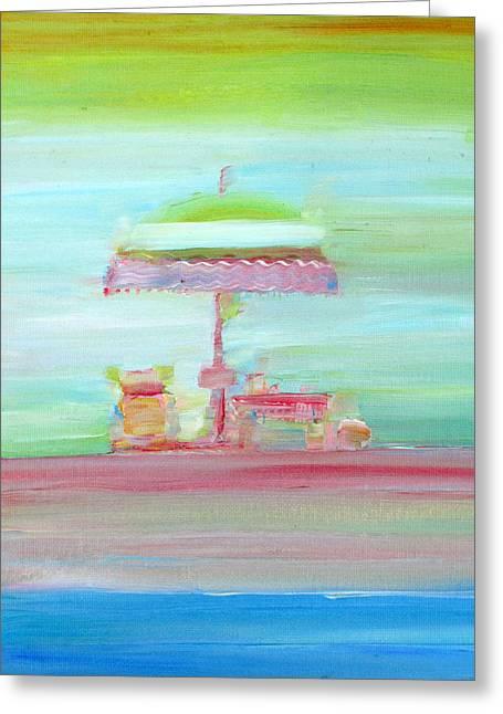 Life On The Beach Greeting Card