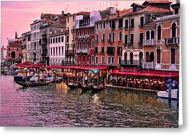 Life On The Grand Canal Greeting Card