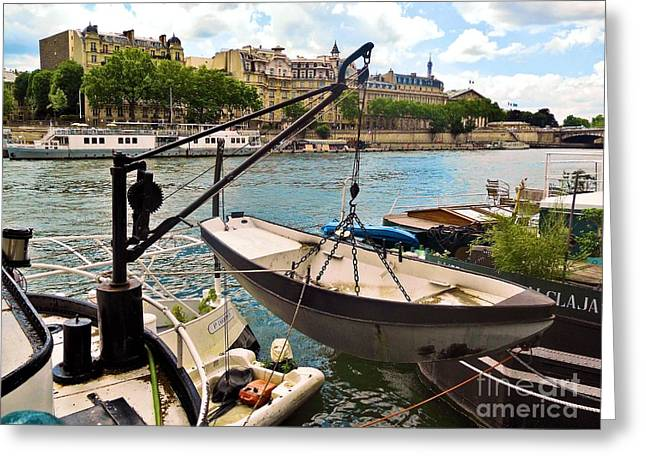 Life On The Seine Greeting Card by Lauren Leigh Hunter Fine Art Photography
