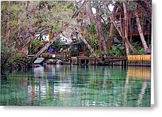 Life On Weeki Wachee Springs Greeting Card