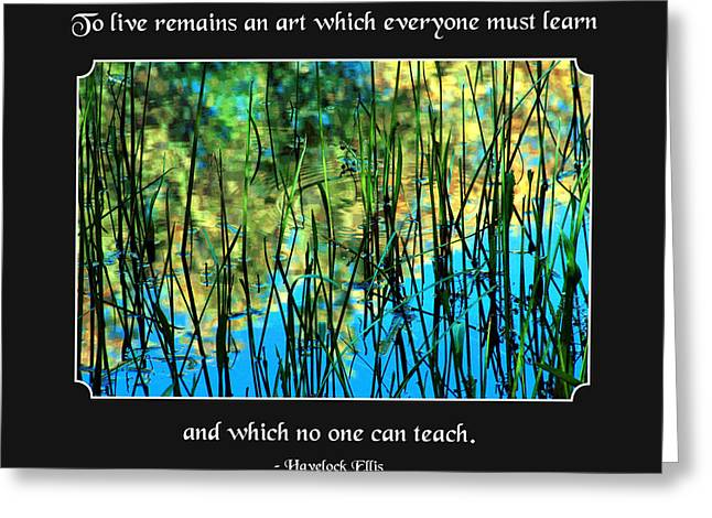 Life Remains An Art Greeting Card by Mike Flynn