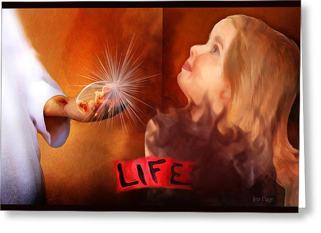 Life   She Is Worth It Greeting Card by Jennifer Page