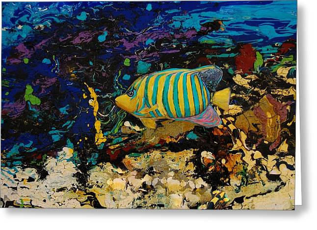 Life Underwater Greeting Card by Jean Cormier
