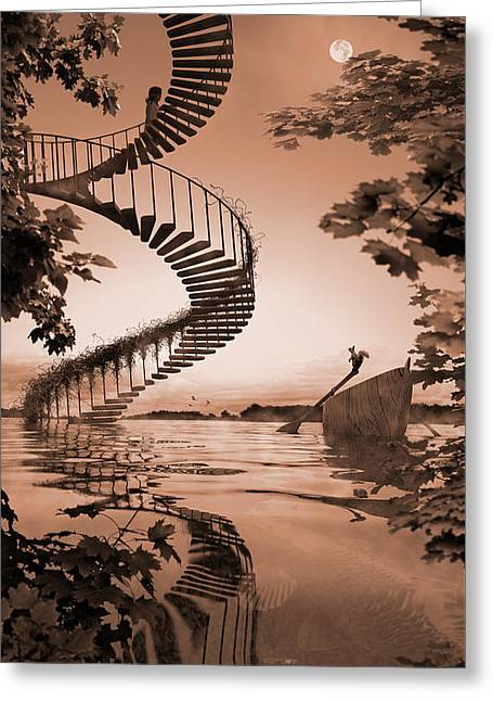 Life Without Stairs Greeting Card