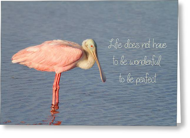 Life Wonderful And Perfect Greeting Card