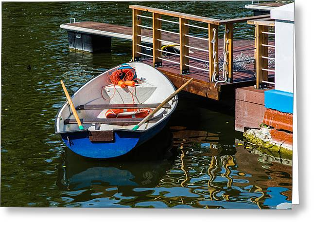 Lifeboat On Duty - Featured 3 Greeting Card by Alexander Senin