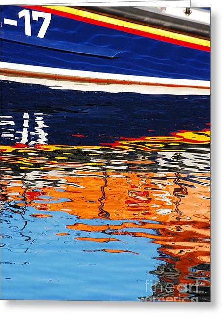 Lifeboat Reflections Greeting Card