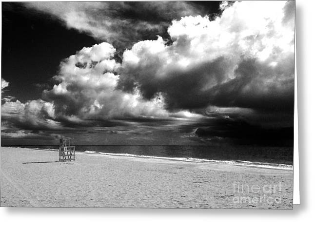 Lifeguard Chair Clouds Greeting Card by WaLdEmAr BoRrErO