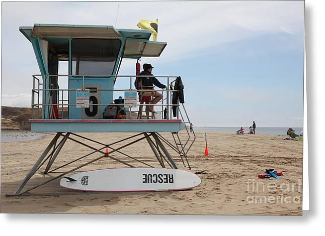 Lifeguard Shack At The Santa Cruz Beach Boardwalk California 5d23715 Greeting Card by Wingsdomain Art and Photography