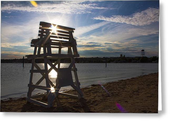Lifeguard Stand Silhouette  Greeting Card