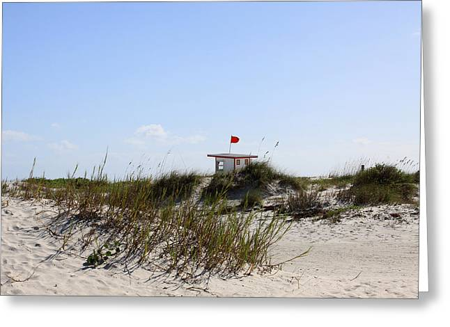 Greeting Card featuring the photograph Lifeguard Station by Chris Thomas