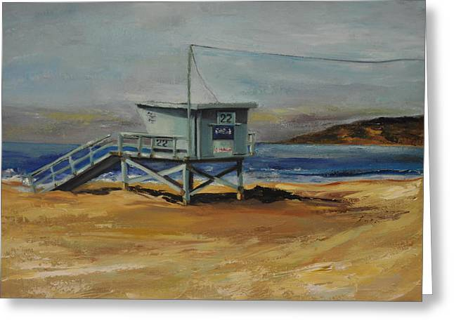 Lifeguard Station Twenty Two Greeting Card