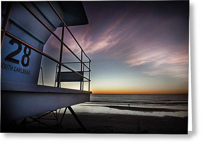 Lifeguard Tower Series - 21 Greeting Card by James David Phenicie