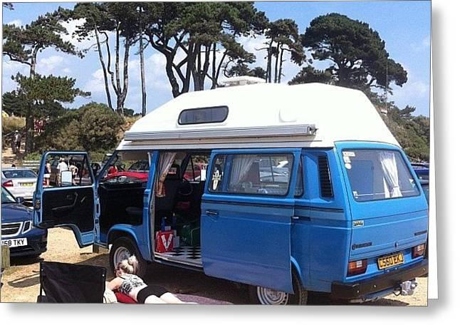 Life's A Beach #camper #vw #vwcamper Greeting Card