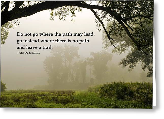 Life's Path Inspirational Art Greeting Card by Christina Rollo