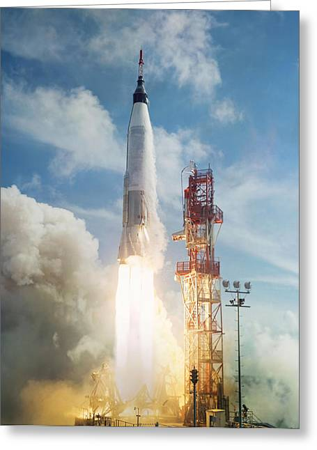 Lift Off Greeting Card by Peter Chilelli
