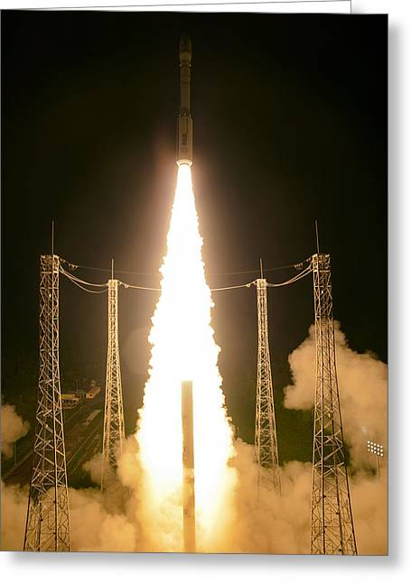Liftoff Of Vega Vv06 With Lisa Greeting Card by Science Source