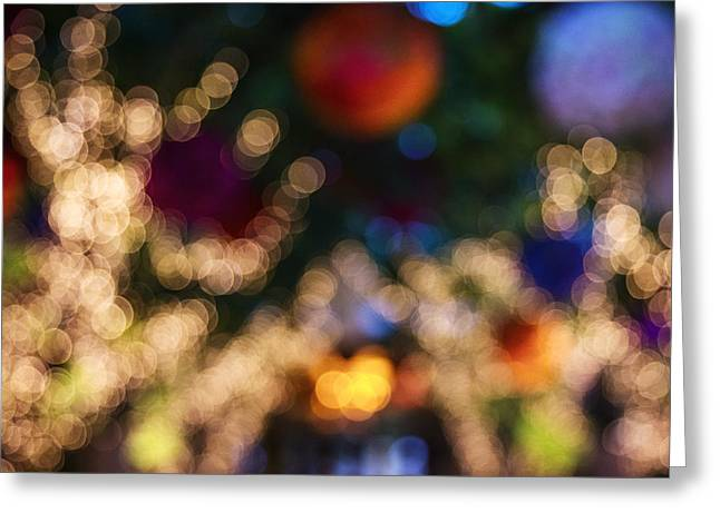 Light Abstract Greeting Card by Susan Stone