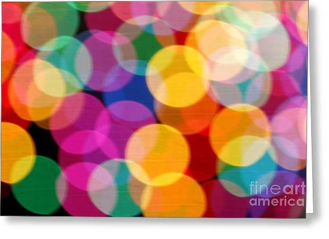 Light Abstract Greeting Card by Tony Cordoza